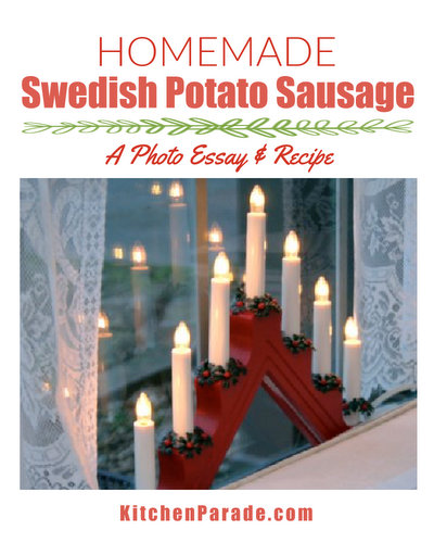 Homemade Swedish Potato Sausage ♥ AVeggieVenture.com, step-by-step instructions from a grandmother teaching her granddaughters how to make the traditional holiday sausages. Rave Reviews Since 2009.