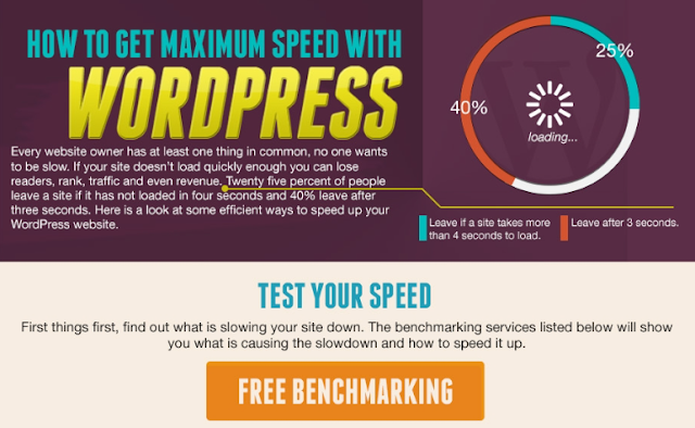 How To Get Maximum Speed With WordPress [infographic]