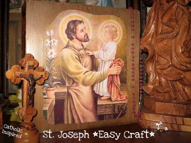 St Joseph Picture Of The Carpenter On Wood Craft