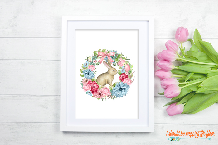 Free Botanical Bunny Printable