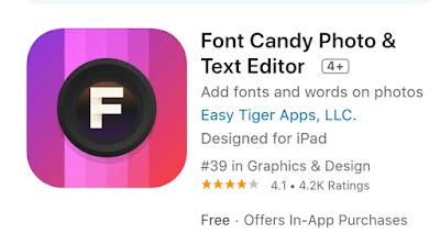 Aplikasi Font Candy Photo & Text Editor