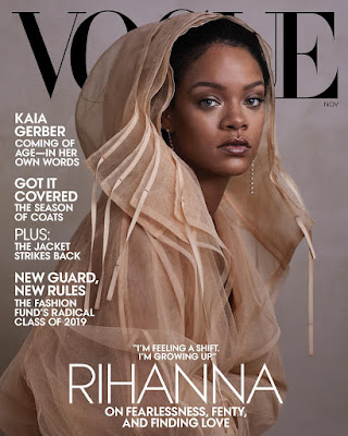 Rihanna Covers Vogue Magazine November Issue Wearing Her Own Designs From Fenty