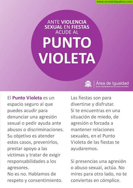 El Ayuntamiento de Los Llanos de Aridane se suma a la campaña Puntos Violeta para mostrar su repulsa a la violencia contra la mujer
