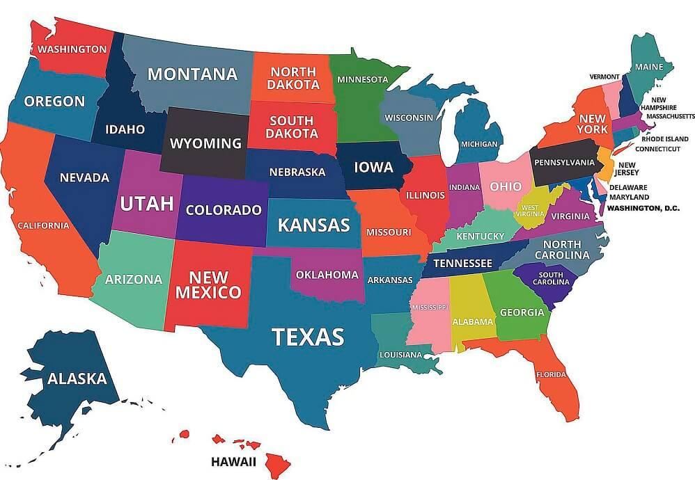اسماء ولايات امريكا