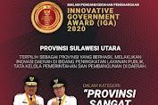 Gubernur Dondokambey Raih Penghargaan IGA 2020, Sulut Terinovatif se-Indonesia