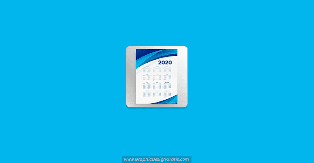 Calendario empresarial vertical 2020