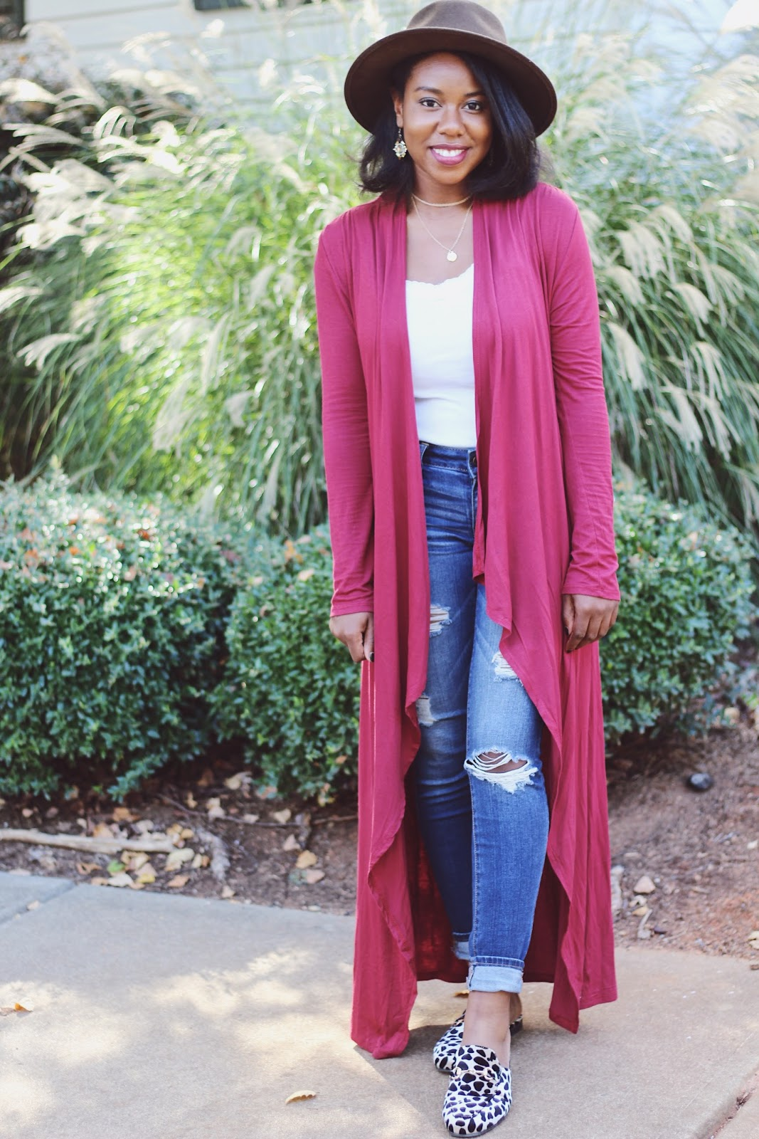RED DUSTER CARDIGAN - Happiness, Joi, & Gloss