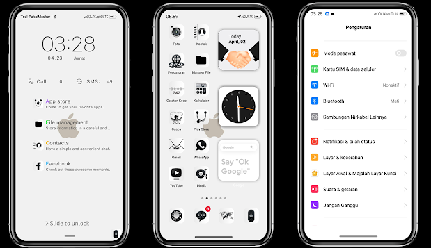 Tema iOS White Untuk Realme UI Tembus Aplikasi Full Pack