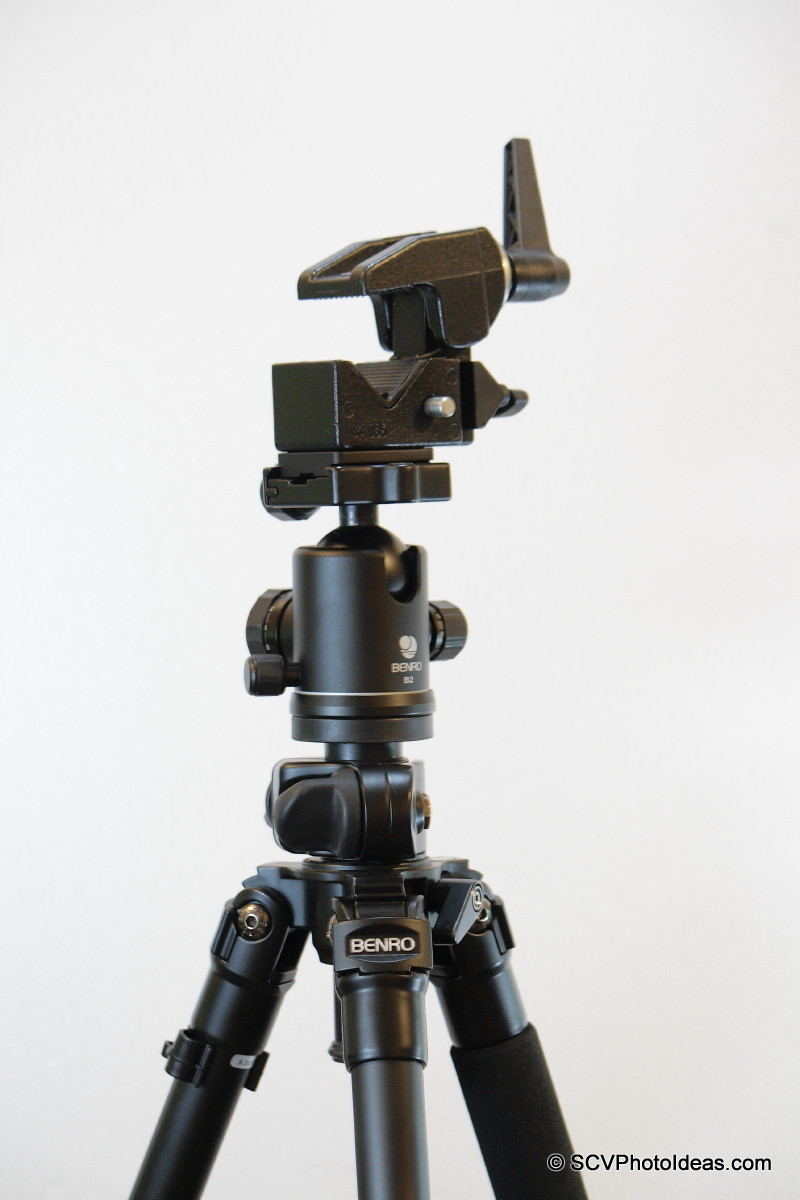 Manfrotto Super Clamp on Benro B-2 ballhead