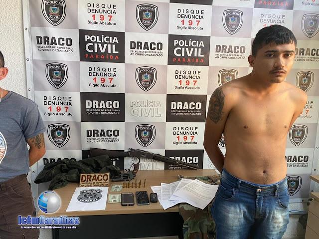 Caraubense acusado de matar Cb. Ildonio José é preso em João Pessoa; veja vídeo da prisão