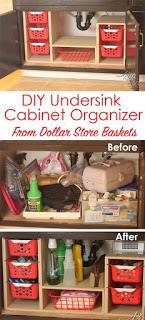 DIY undersink storage