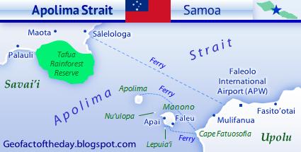 Map of Apolima Strait in Samoa