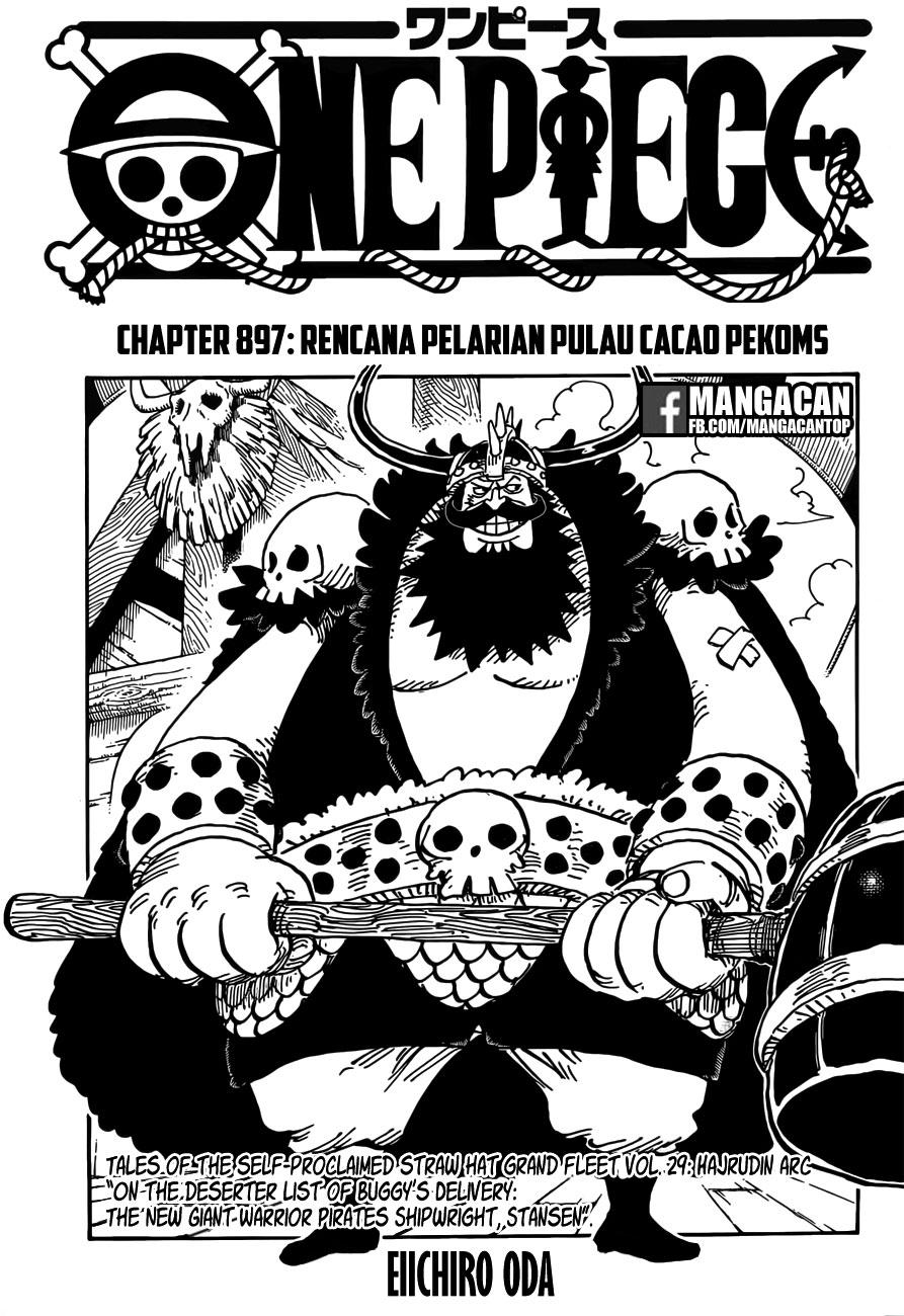01b One Piece 897   Rencana Pelarian ke Pulau Cacao Pekoms