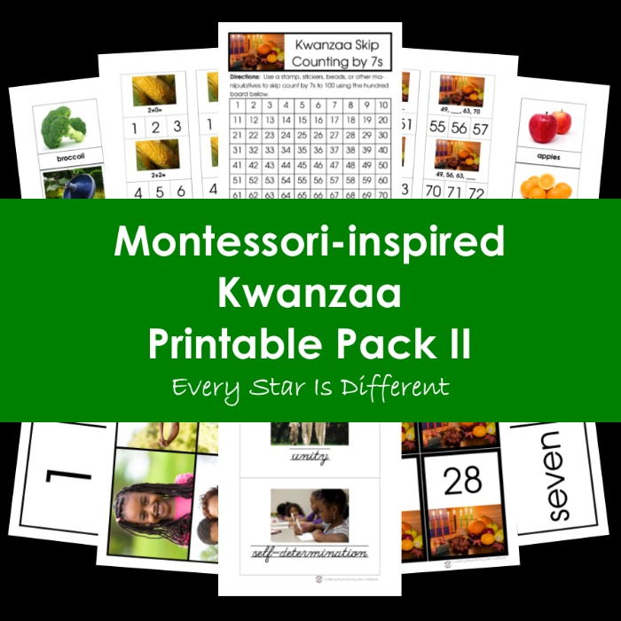 Montessori-inspired Kwanzaa Printable Pack II