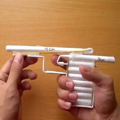 Cách làm khẩu súng bằng giấy đơn giản