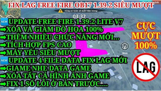 DOWNLOAD APK FREE FIRE 1.39.2 LITE V7 GIẢM ĐỒ HỌA, XÓA ĐỒ HỌA CỰC MƯỢT CHO MÁY YẾU