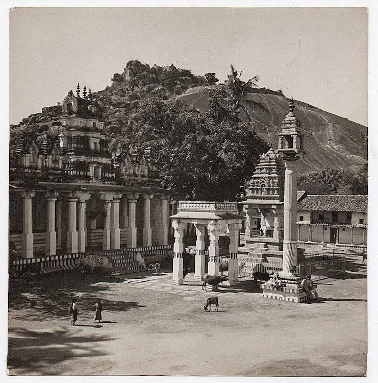 Temple at Shravanabelagola, Karnataka - c1930's