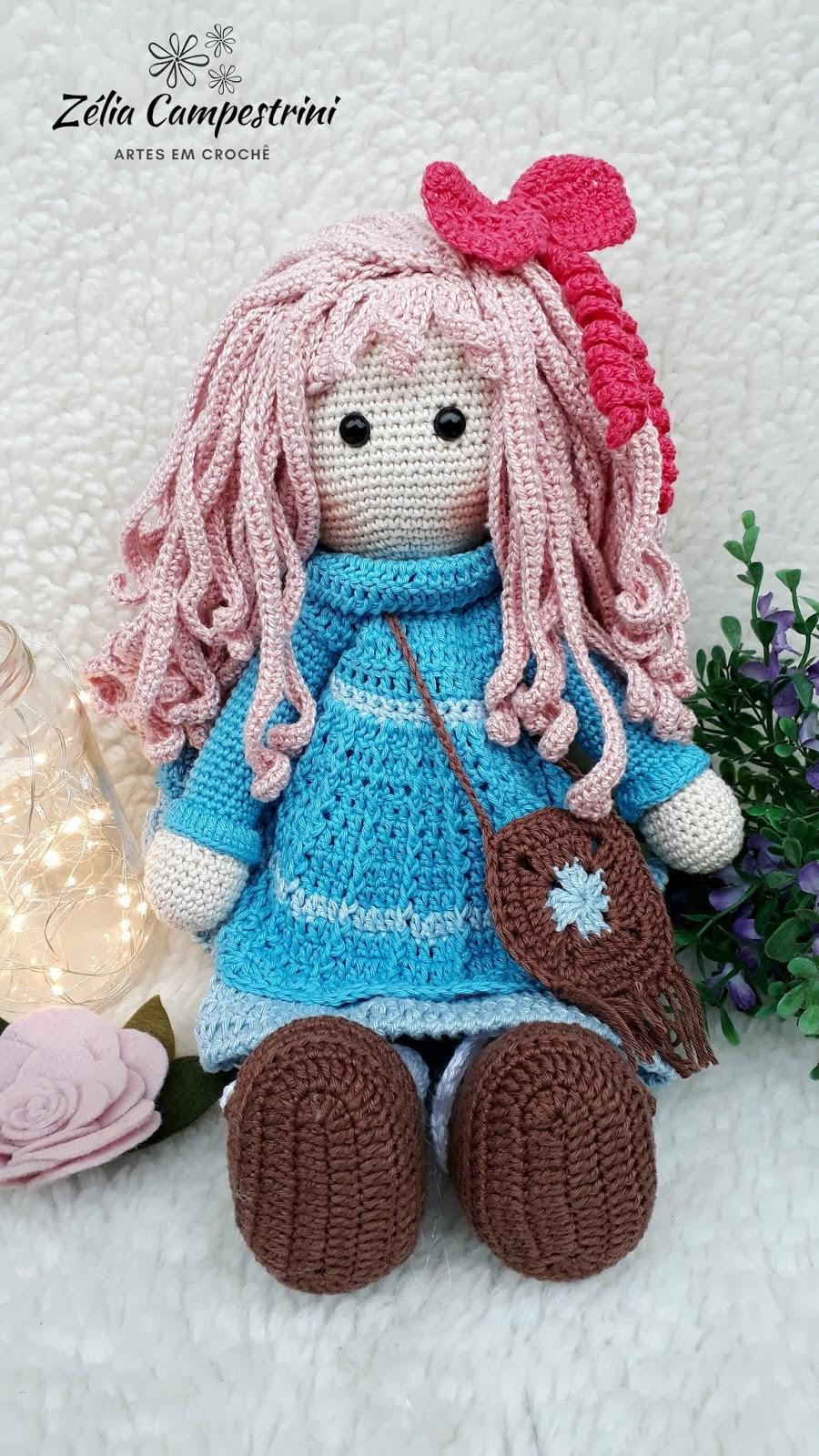 Boneca Decoração em Crochê - Amigurumi no Elo7 | Armazém de Crochê ... | 1600x900