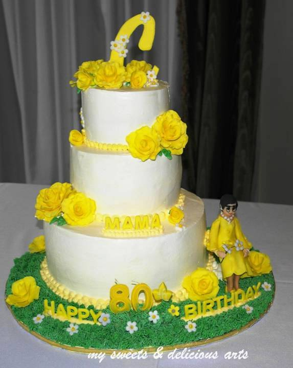 The Roses Were Made Of Mixed Fondant And Gumpaste I All Those Ahead Time To Make It Hard Figurine Was Just