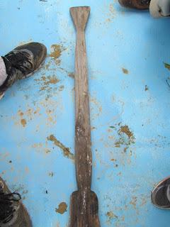 canoe paddle, Belize