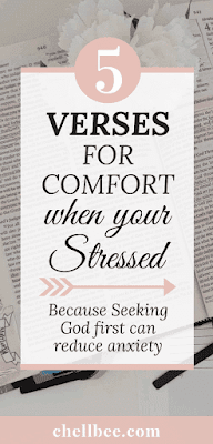 Bible verse for anxiety | Discover these 5 scriptures for stress relief. These tips are perfect for women struggle to manage anxiety and stress.  bible quotes for women | panic attacks | stress | depression | comforting | scripture | peace | don't worry #bibleverse #stress