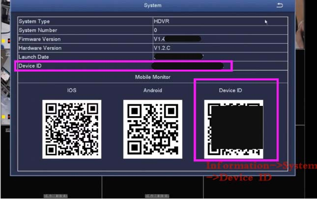 How to find Zosi Device ID or UID