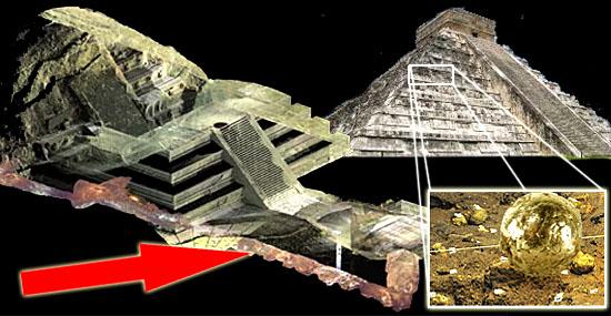 Enigma pirâmides do México - Esferas douradas e mercúrio enterrado intrigam cientistas