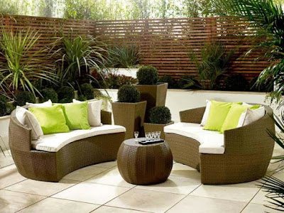 modern-green-pillow-and-rattan-conservatory-furniture