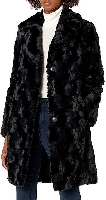 Women's Black Faux Fur Coats