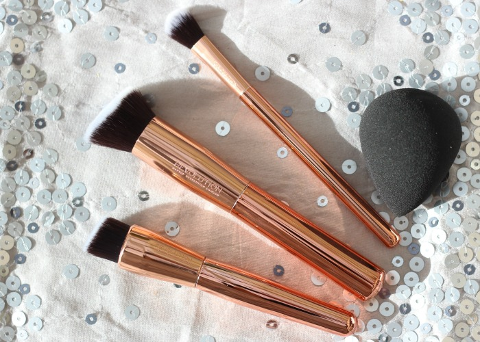 Makeup Revolution ultra sculpt & blend brushes flatlay