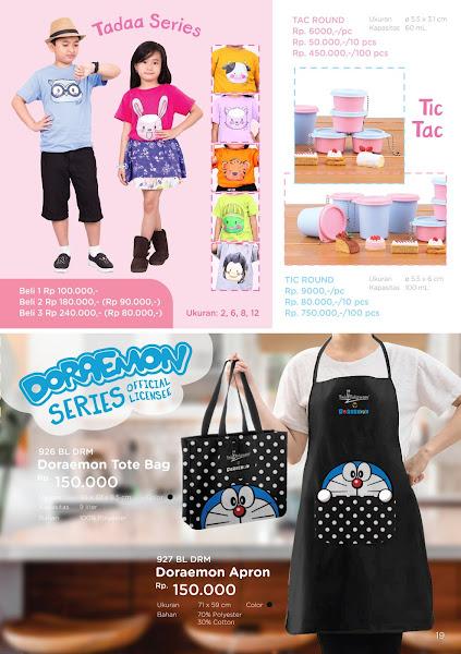 Promo Diskon Februari 2020, Tadaa Series, Tic Tac Round, Doraemon Tote Bag, Apron