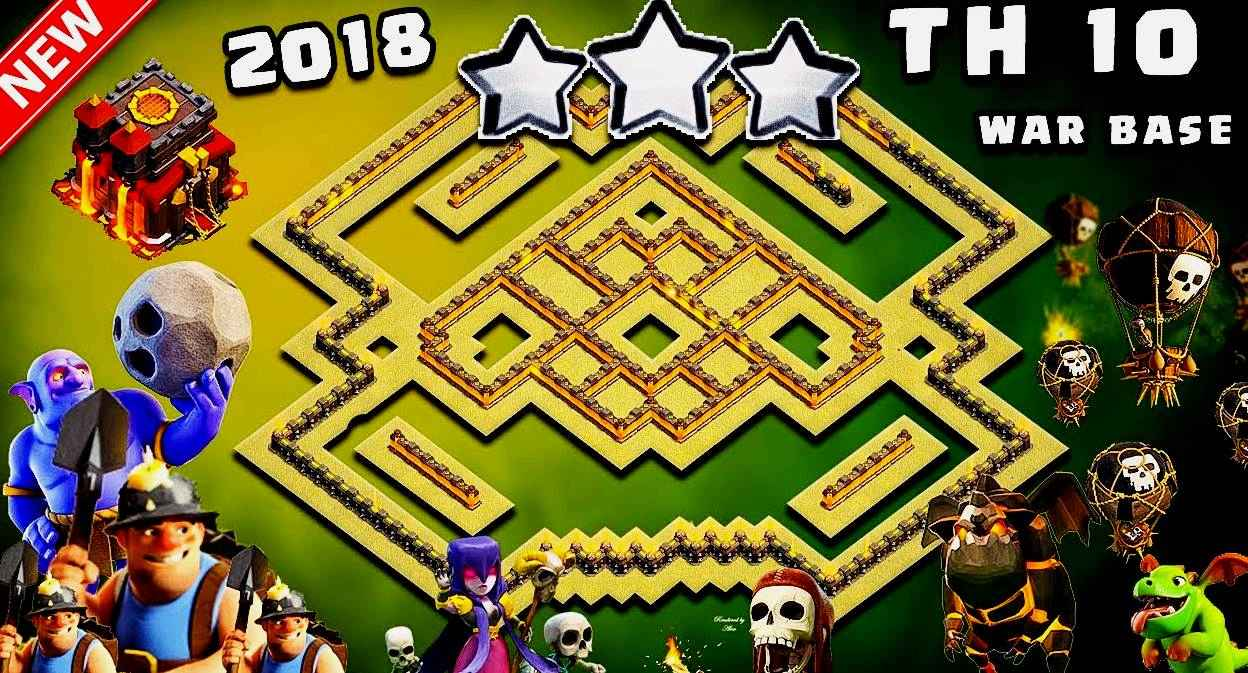 10 Base War Th 10 Terkuat 2018 Anti Bintang 2 Coc Versi Baru