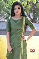 Akshitha cute beauty in Green Salwar at Satya Gang Movie Audio Success meet ~  Exclusive Galleries 012.jpg