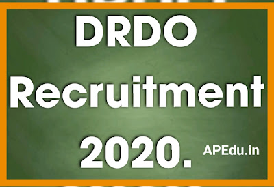 Jobs in Defence Research and Development Organisation DRDO Recruitment 2020.