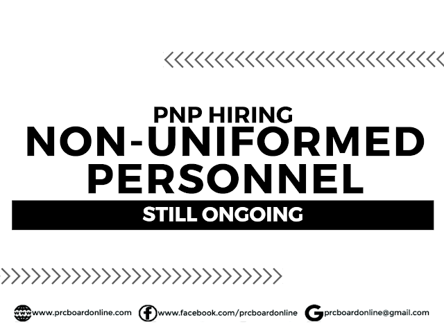 PNP Hiring 2020: Non-Uniformed Personnel