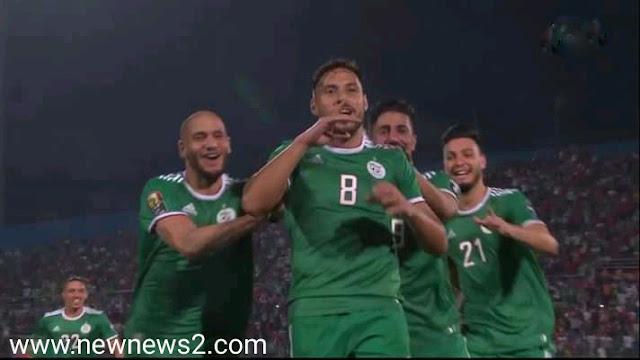 الجزائر تتصدر المجموعة الثالثة بالفوز على السنغال