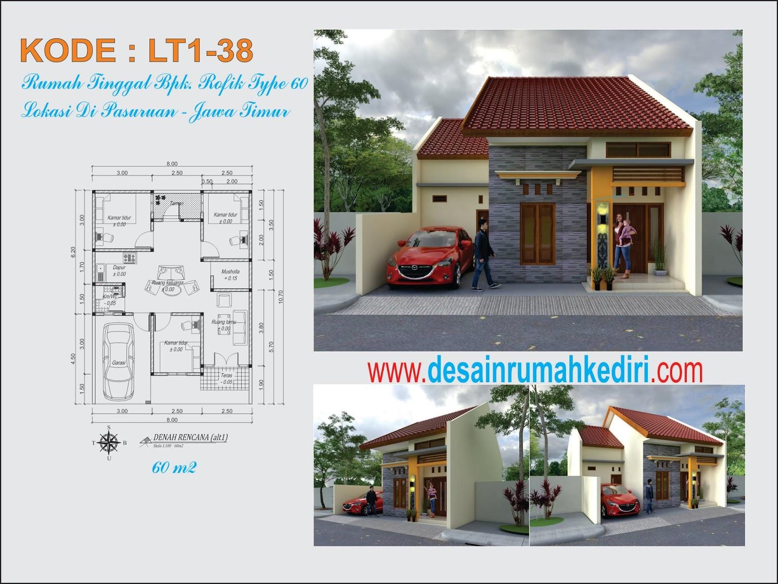 LT1 38 Desain Rumah Minimalis 1 Lantai Bpk Rofik di