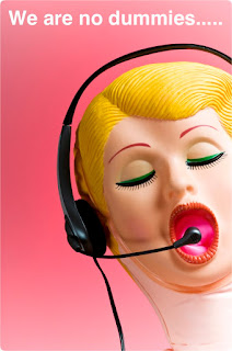 Blow up dummy answering the phone