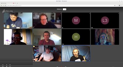 Bildschirmfoto vom letzten Treffen im April
