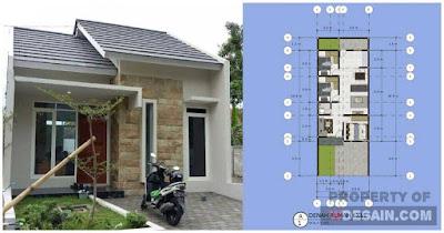Desain Rumah Ukuran 6x11 1 Lantai Model Minimalis