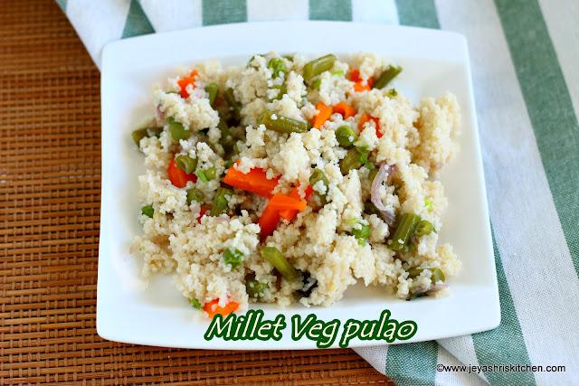 Millet veg pulao