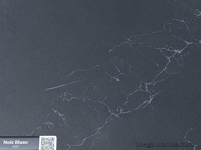 Quartz Stone Color noir blanc v607