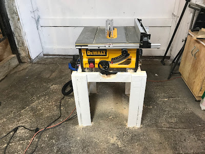 A stand fit for my new table saw