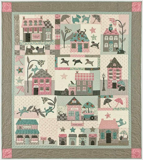 Blog de labores ESPACIO PATCHWORK .....................Y MÁS: Raining Cats & Dogs Quilt by Bunny Hill Desings