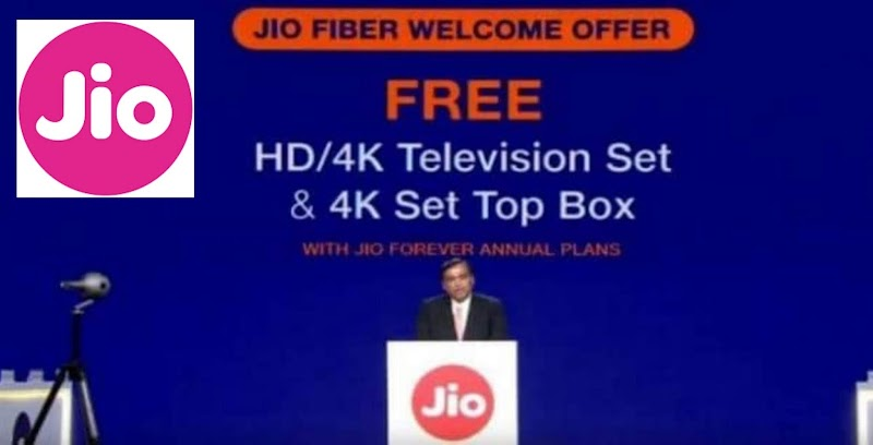 Reliance announces- Jio Gigafiber to be available in 700, free LED TV on annual plan