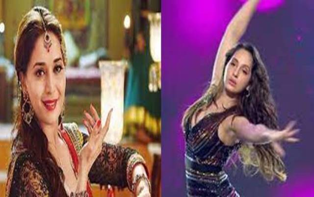 Dance  Video of Madhuri Dixit and Nora Fatehi Went Viral
