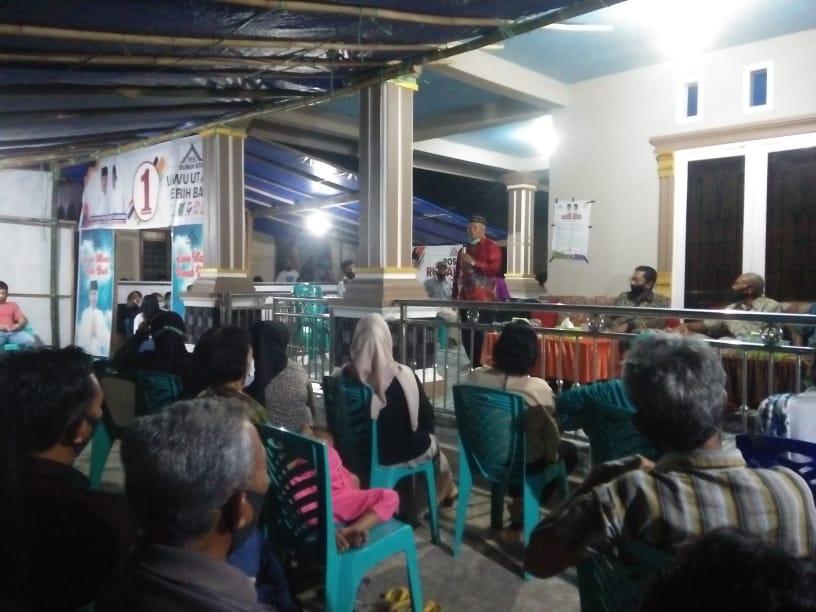 H Pardenga Beberkan Program Prioritas Thahar Rahmat Dihadapan Masyarakat Sabbang