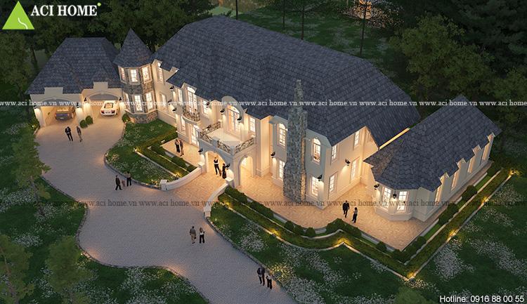 Thiết kế biệt thự vườn kiểu Châu Âu tại Đà Lạt - Ảnh 1