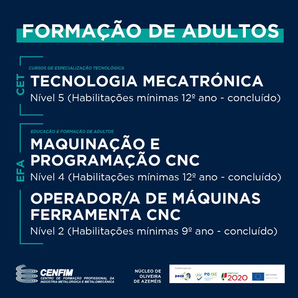 Cursos EFA e CET em Oliveira de Azeméis