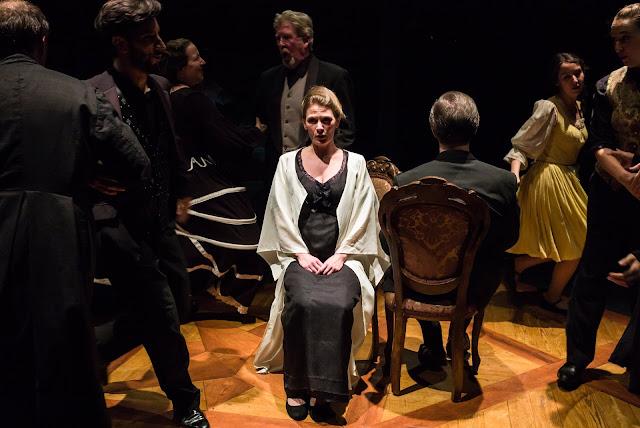 Heather Caddick, Cheyney Kent and ensemble - Mozart Marriage of Figaro - Grimeborn Festival - photo Nick Rutter